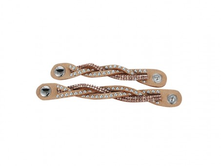 Schalhalter SET mit Nieten und Strass VE: 24 Stk