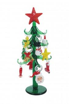 Glas Weihnachtsbaum grün , VE: 12 Stück