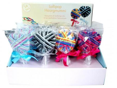 Lollipop Haargummi Herz 24 Stk. im Karton 576 Gummis