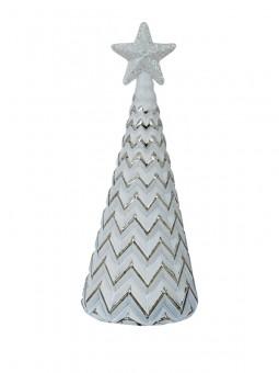 Christbaum im antik-silber Design 16cm groß, VE 12 Stück