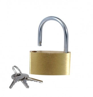 Liebesschloss Messing mit Schlüssel 50x27mm  12 Stk.