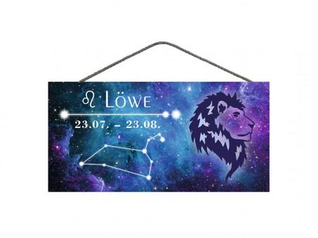 Spruchschild Sternzeichen Löwe 3 Stk