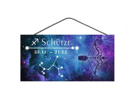 Spruchschild Sternzeichen Schütze 3 Stk