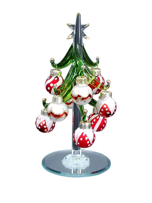 Immagini Piccole Di Natale.Pfronten Schmuck Albero Di Natale In Vetro Con Sfere
