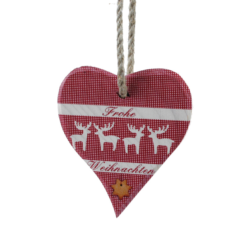 OXID Surf and Kite Shop | Banner Heart small- Merry Christmas red ...
